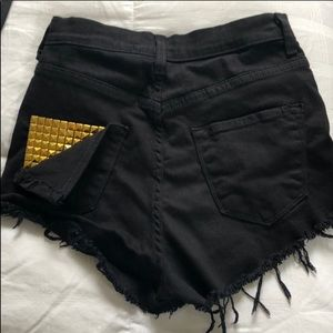 Pants - High Waisted Jean Shorts (stretchy material)